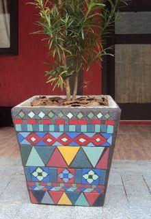 Arte Mosaicos: Vasos de Mosaicos