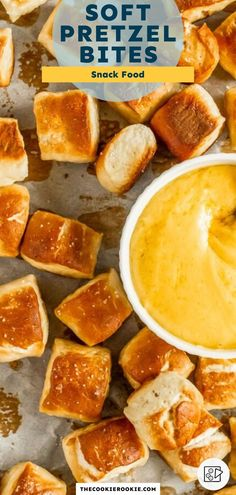 Soft Pretzel Bites are easy to make and fun to eat. Serve them as an appetizer or snack with all your dipping sauces and cheese dips. Homemade Pretzels, Soft Pretzels, Cheese Dips, Cheese Sauce, Game Day Appetizers, Dipping Sauces, Snack Recipes, Snacks, Game Day Food