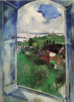 The Window, 1924 - Marc Chagall. Professional Artist is the foremost business magazine for visual artists. Visit ProfessionalArtistMag.com.- www.professionalartistmag.com