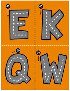 Os hemos preparado este fantástico abecedario o alfabeto para trabajar la motricidad dado su forma de carretera es ideal para los más peques. El control de la motricidad fina es … Transportation Preschool Activities, Abc Activities, Busy Boxes, Pre Writing, Early Learning, Projects For Kids, Symbols, Letters, Teaching