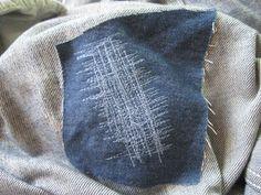 klimperklein: WIP: Jeans flicken ratz fatz Textiles, Knit Crochet, Throw Pillows, Sewing, Style, Tricks, Freebies, Tutorials, Knitting