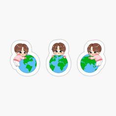 Kawaii Wallpaper, Bts Wallpaper, Iphone Wallpaper, Printable Planner Stickers, Journal Stickers, Kawaii Stickers, Cute Stickers, Kpop Diy, Korean Stickers