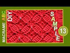 ▶ Macrame ABC - pattern sample #13 - YouTube