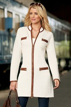 Boston Proper Textured sweater coat #bostonproper