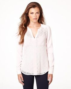 Lace-front blouse RW&CO. Pre-Fall 2014 Collection