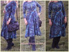 Hobbylst Ilknur...: Ekose Kloş Elbise - Flared Plaid Dress
