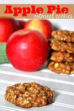 Apple Pie Oatmeal Cookies - A Healthier Cookie options with chunks of real apple, limited butter, and no oil. PLUS, they are really fluffy. {The Love Nerds}