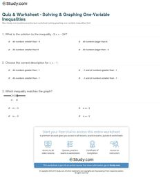 Guy Fawkes Worksheets Pdf Solving Two Step Inequalities Th Th Grade Worksheet Lesson  Printable Sixth Grade Math Worksheets Word with Measurement Worksheets Year 3 Word Quiz Worksheet Solving Graphing One Variable Inequalities Printable Comprehension Worksheets For 4th Grade