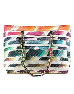 Large tote with colorful paint... - CHANEL
