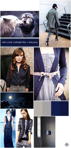 Color Crush:  Midnight Blue + Slate Gray #KendraScott