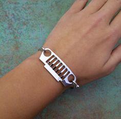 Silver Jeep Bracelet / Garage Girls Jewelry