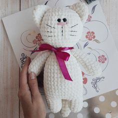 Crochet toy kitty amigurumi