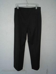 EILEEN FISHER Gray Dress Wide Leg Pants Wool Stretch Flannel Melange Size 12 #EileenFisher #DressPants
