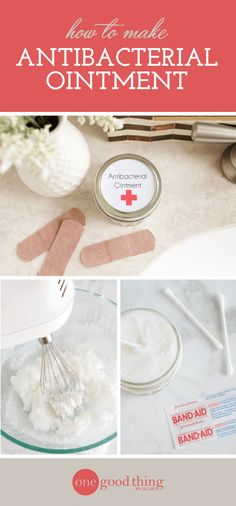 How To Make A Homemade First-Aid Ointment Learn how to make an all-natural antibacterial ointment that's perfect for your first aid kit, featuring nourishing coconut oil and essential oils. Perfume, Tea Tree Essential Oil, Oil Uses, Natural Home Remedies, Herbal Remedies, Health Remedies, Natural Solutions, Oils For Skin, Natural Medicine