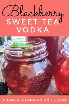 Enjoy sipping a yummy Blackberry Sweet Tea Vodka Cocktail. Make your fresh blackberry iced tea in the instant pot and add in some yummy sweet tea vodka for a refreshing cocktail! Easy to make, and you can easily serve the blackberry tea without the vodka too! Iced Tea Cocktails, Cocktail And Mocktail, Refreshing Cocktails, Yummy Drinks, Cocktail Recipes, Blackberry Syrup Recipes, Blackberry Tea, Vodka Taste, Sweet Tea Vodka