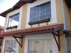 Imagini pentru como fazer mao francesa telhado Outdoor Decor, Home Decor, Porch Roof, Rooftops, Craft, Houses, Decoration Home, Room Decor, Home Interior Design