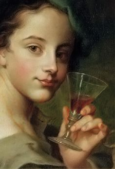 Woman with a Glass of Wine (detail), Philip Mercier