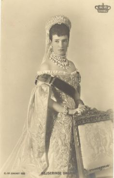 Czarina Marie Feodorovna, mother of Nicholas II - this is probably her coronation portrait
