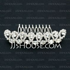 Headpieces - $16.99 - Austrian Drilling Rhinestone Alloy Hair Combs (042026828) http://jjshouse.com/Austrian-Drilling-Rhinestone-Alloy-Hair-Combs-042026828-g26828