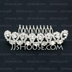 Headpieces - $16.99 - Austrian Drilling Rhinestone Alloy Hair Combs (042026828) http://jjshouse.com/Austrian-Drilling-Rhinestone-Alloy-Hair-Combs-042026828-g26828