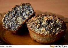 Zdravé a vláčné makové muffiny Apple Recipes, Raw Food Recipes, Baking Recipes, Cake Recipes, Dessert Recipes, Desserts, Healthy Cake, Healthy Sweets, Healthy Baking