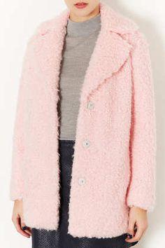 Fluffy Pea Coat