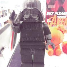 3D Printed supersize Lego Darth Vader #darthvader #Lego #darkside #3dprinting by mister_two