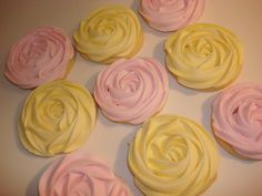Romantic Rosette Sugar Cookies 12 One Dozen by WackyCookies, $30.00