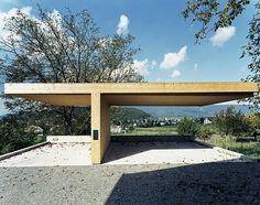 Carport Landsitz Schloss Bickgut Würenlos/CH, 2001, ARGE Burkhard Meyer Architekten mit Adrian Streich