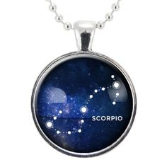 Scorpio Zodiac Necklace, Constellation Jewelry, Astrology Star Sign Pendant