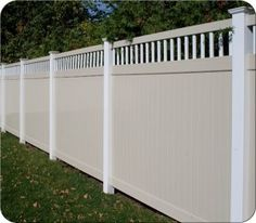 new pvc fence