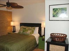 Aina Nalu Resort #H1404108 Beautiful Lahaina Condo | Maui Hawaii Vacations Guest Bedroom with Queen bed and A/C