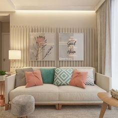 Amei as cores dessa sala de estar Apartment Interior, Home Living Room, Interior Design Living Room, Living Room Designs, Living Room Decor, Bedroom Decor, Diy Deco Rangement, Accent Walls In Living Room, Home Decor
