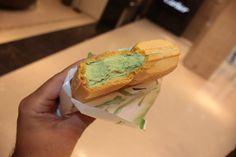 In Tokyo , Japan . ♥ Its a green tea waffle .