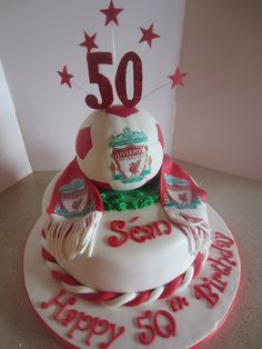 Liverpool Birthday Cake