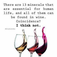 13 minerals are found in wine.  #WineWednesday www.ShopEventBox.com #ShopEventBox #EventBox