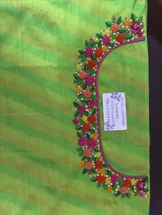 Sudhasri hemaswardrobe Cutwork Blouse Designs, Kids Blouse Designs, Wedding Saree Blouse Designs, Simple Blouse Designs, Kurta Designs Women, Dress Neck Designs, Hand Designs, Hand Embroidery Dress, Kurti Embroidery Design