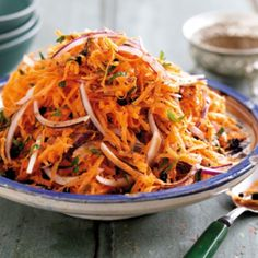 Moroccan carrot salad - Healthy food world Morrocan Food, Moroccan Salad, Vegetarian Recipes, Cooking Recipes, Healthy Recipes, Vegetarian Salad, Free Recipes, Clean Eating, Healthy Eating