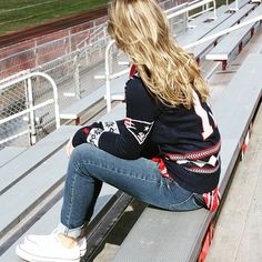New England Patriots Sweater on the Sidelines // Football Fashion
