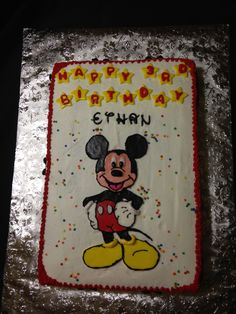 Mickey Mouse birthday cake made for a special little boy!