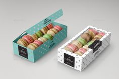 Food Pastry Boxes Cookies Macarons Pastry Take Out Packaging Mock Ups Macaron Packaging, Bakery Packaging, Cookie Packaging, Macarons, Macaron Cookies, Diy Party Food, Macaron Boxes, Party Food Platters, Fancy Desserts