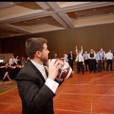 Rugby Ball Garter Catch