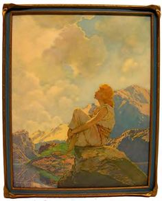 """Morning"" by Maxfield Parrish"