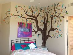 Kid Murals by Dana Railey designs #murals for #kidsbedrooms. With a passion for #painting, Dana can take any idea and turn it into a reality! All murals are #hand-painted and #designed with the clients dreams/ideas becoming a reality! Check out more #kidmurals, #bedroommurals, #paintedmurals, #scottsdalemurals, and #interiordesign ideas on FB at http://www.facebook.com/kidmurals.com or www.scottsdalemurals.com #treemural  #kidsroom #paintedtree #girlsroom #kidsbedroom #wallart #nurserymural