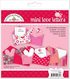 Doodlebug Designs Mini Love Letters Valetine Scrapbook Craft Kit - 11 Main