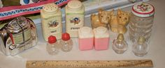 Big collection of vintage salt and pepper shakers in good to great condition by TexicalGalsVintiques on Etsy