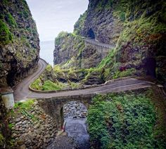 Scenic road, Madeira Portugal ~ been here ~ nainis Funchal, Spain And Portugal, Portugal Travel, Beautiful Islands, Beautiful Places, Places To Travel, Places To See, Places Around The World, Around The Worlds