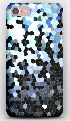 iPhone 7 Case Stained glass, Background, Texture, Color, Black, Blue, White