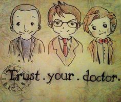 Who wouldn't love this trio of Doctors?