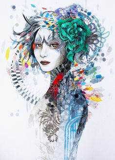 (Korea) Memories by Greno (Minjae Lee). born in Seoul. Art Painting, Psychedelic Art, Art Images, Art Drawings, Illustration Art, Art, Street Art, Portrait Art, Pop Art